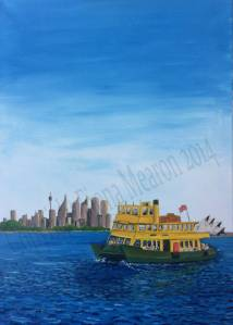 Sydney Ferry, OIl Painting